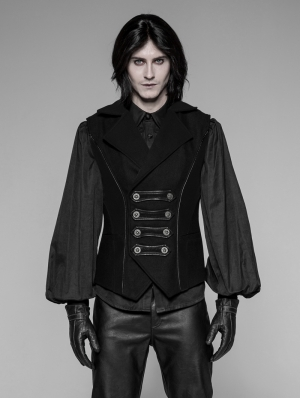 Black Gothic Uniform Men's Vest