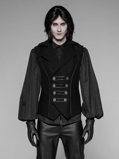 Black Gothic Uniform Men's Vest