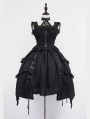 Neverland Black Gothic Lolita Jumper Dress