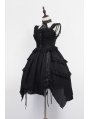 Neverland Black Gothic Lolita Jumper Dress