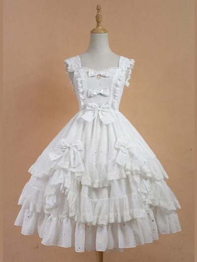 Neverland Asian Impressions Gold Stamping Lolita Jumper Dress
