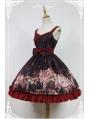 Neverland Nine-Tailed Fox Striped Lolita Jumper Dress