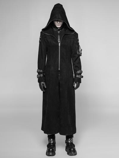 Black Gothic Punk Playerunknown's Battleground Three-quarter Coat