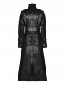 Black Gothic Punk Darkness Long Coat for Women