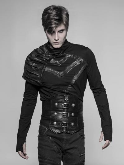 Black Gothic Rough Punk Waist Girdle for Men