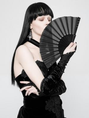 Gothic Punk Fabric Rivet Fan
