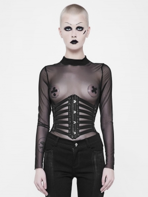Black Gothic Punk Girdle for Women