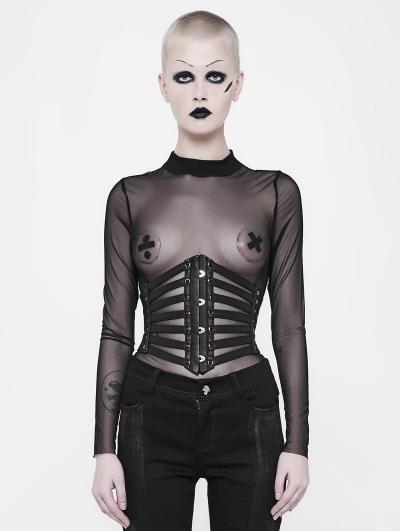 Black Gothic Punk Girdle for Women