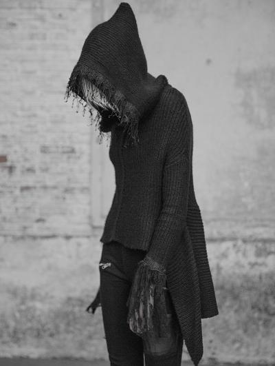 Black Dark Gothic Women's Sweater