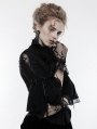 Black Gothic Lace Gloves for Women