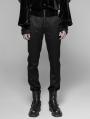 Black Gothic Dark Stripes Trousers for Men