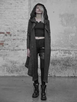 Gothic Weird Long Cardigan Sweater for Women