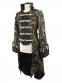 Gold Gothic Retro Palace Swallow Tail Jacket for Women