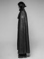Black Gothic Night Count Vampire Long Cloak Coat