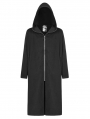 Black Gothic Dark Long Hooded Casual Coat for Men