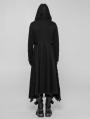 Black Gothic Diablo Long Hooded Coat for Men