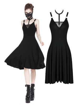Black Gothic Punk Daily Dress