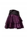 Purple Rose Printed Pattern Gothic Short Skirt