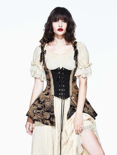 Vintage Gothic Victorian Vest for Women