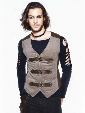 Vintage Steampunk Vest for Men
