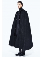 Black Gothic Long Cape Cloak for Men
