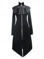 Black Vintage Velvet Gothic Long Cape Coat for Women
