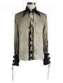 Vintage Steampunk Long Sleeves Shirt for Men