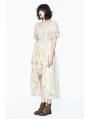 Ivory Vintage Steampunk High-Low Dress