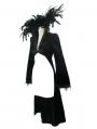 Black Gothic Vampire Dark Queen Coat for Women