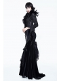 Black Gothic Lace Dark Queen Short Jacket for Women