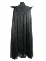 Black Gothic Lace Dark Queen Long Cape for Women