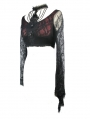 Black and Red Gothic Lace Short Sexy Shirt for Women
