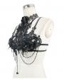 Black Romantic Gothic Flower Beading Harness