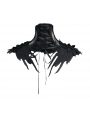 Black Gothic Lace Flower Collar