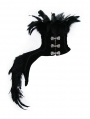 Black Gothic Feather Collar