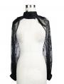 Black Gothic Lace Cape for Women