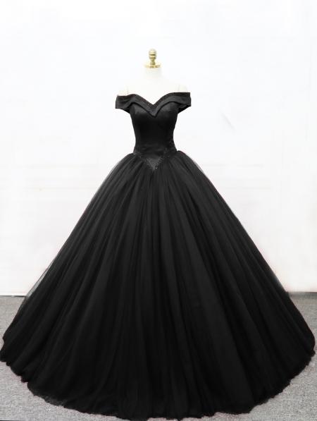 Black Gothic Princess Ball Gown Wedding Dress - Devilnight.co.uk d86b28c1b153