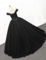 Black Gothic Princess Ball Gown Wedding Dress