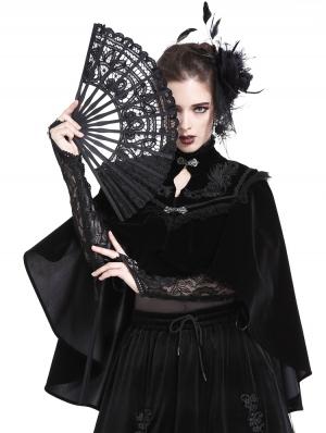 Black Vintage Elegant Gothic Velvet Cape for Women