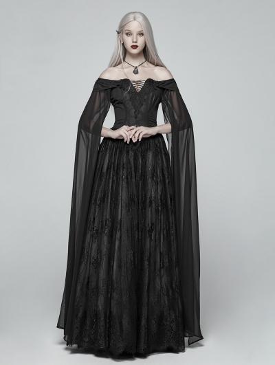 Black Gothic Medieval Renaissance Fancy Dress