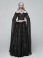 Black Gothic Medieval Renaissance Fancy Dress