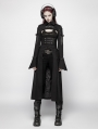 Black Gothic Steampunk Futuristic Long Coat for Women