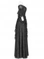 Black Gorgeous Lace Gothic Victorian Dress