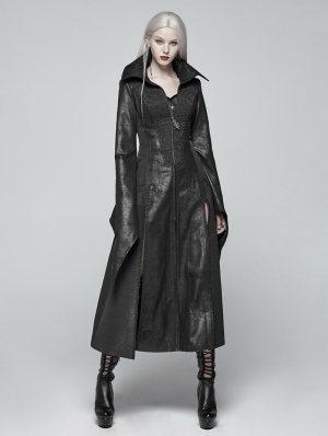 Black Gothic Judge Witch Long Coat for Women