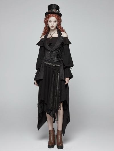 Black Gothic Performance Detachable Vest for Women