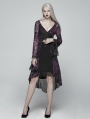 Purple Gothic Goddess Classical Mid-length Dress