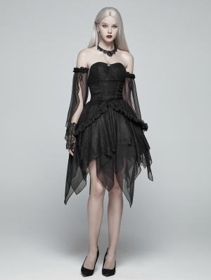 Black Gothic Lolita Elf Short Dress