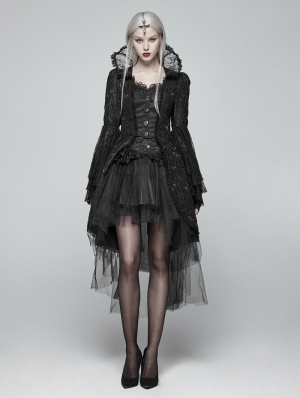 Black Retro Masquerade Gothic Coat for Women