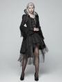 Black Retro Masquerade Gothic Coat for Women