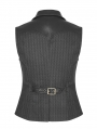 Black Steampunk Quiff Vest for Men